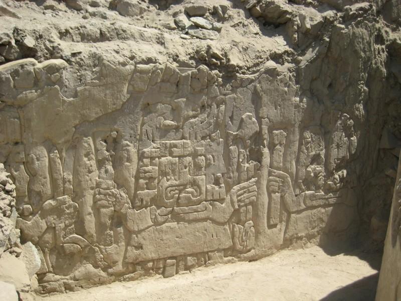Uno de los impresionantes grabados descubiertos en Sechín