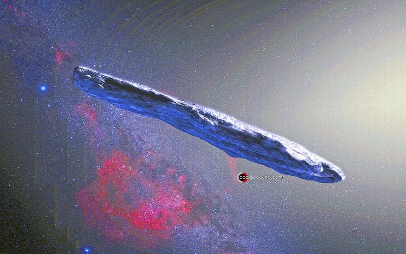 Representación artística de Oumuamua