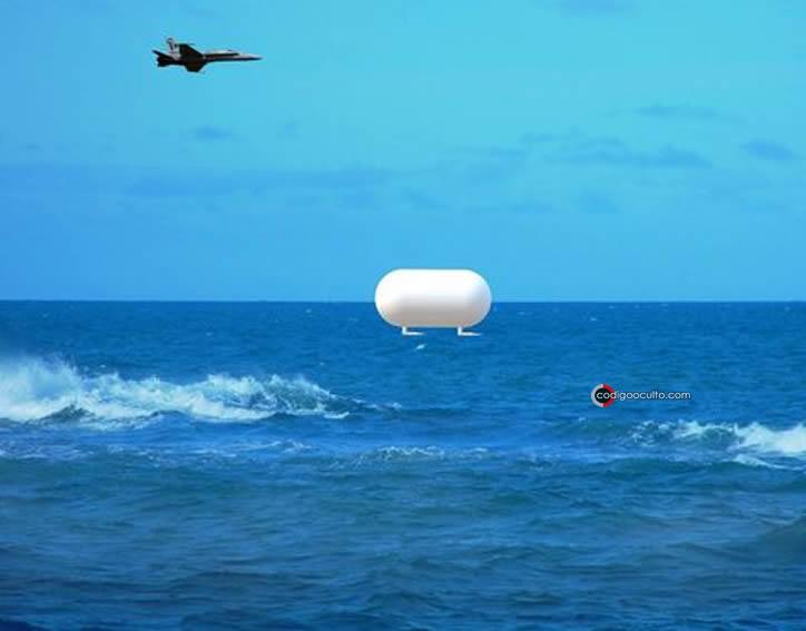Representación artística del OVNI Tic Tac visto por pilotos de la Marina de EE. UU.