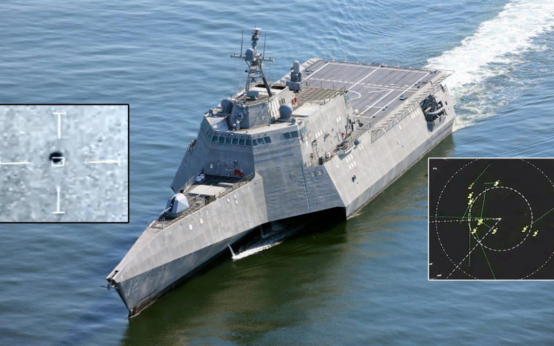Radar lo confirma: enjambre de OVNIs rodeó al buque de guerra USS Omaha