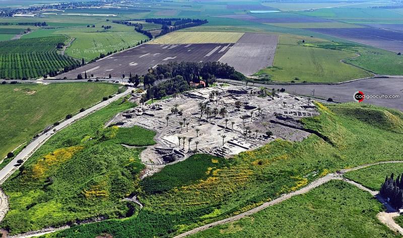 Vista aérea de Tel Megiddo