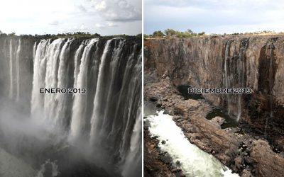 El trágico día en que las enormes cataratas Victoria se secaron