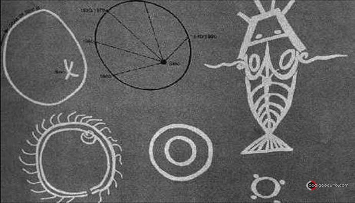 Patrones dibujados por los Hogons para explicar sus conocimientos de Sirio