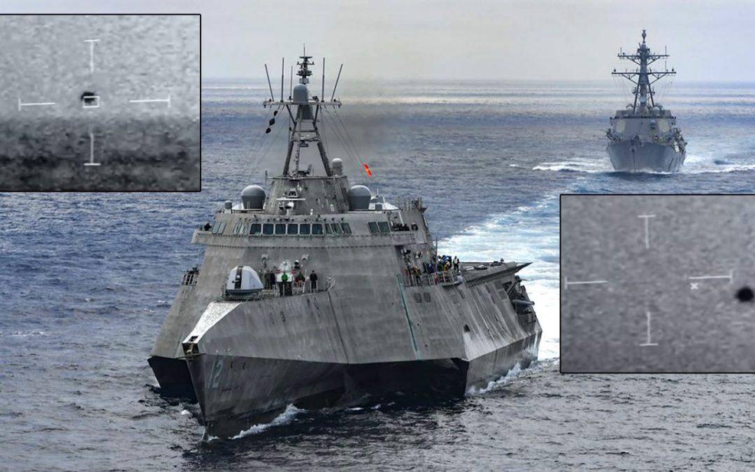 Vídeo muestra un No Identificado esférico acechando un barco de la Armada de EE. UU.