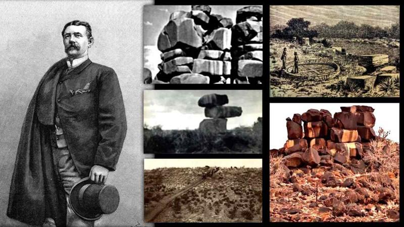 """Guillermo Farini, el pionero de """"Ciudad Perdida del Kalahari"""" y las extrañas estructuras del desierto de Kalahari"""