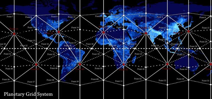 Antiguas estructuras alrededor del mundo organizadas por la Earth Grid