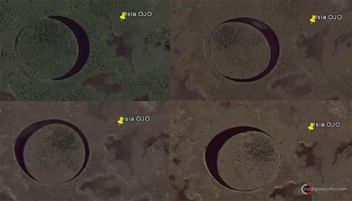 Las imágenes en Google Maps revelan como la isla gira sobre su propio eje