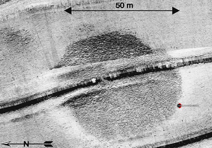 Estructura circular se detectó por primera vez en un sonar de una parte del mar en el verano de 2003