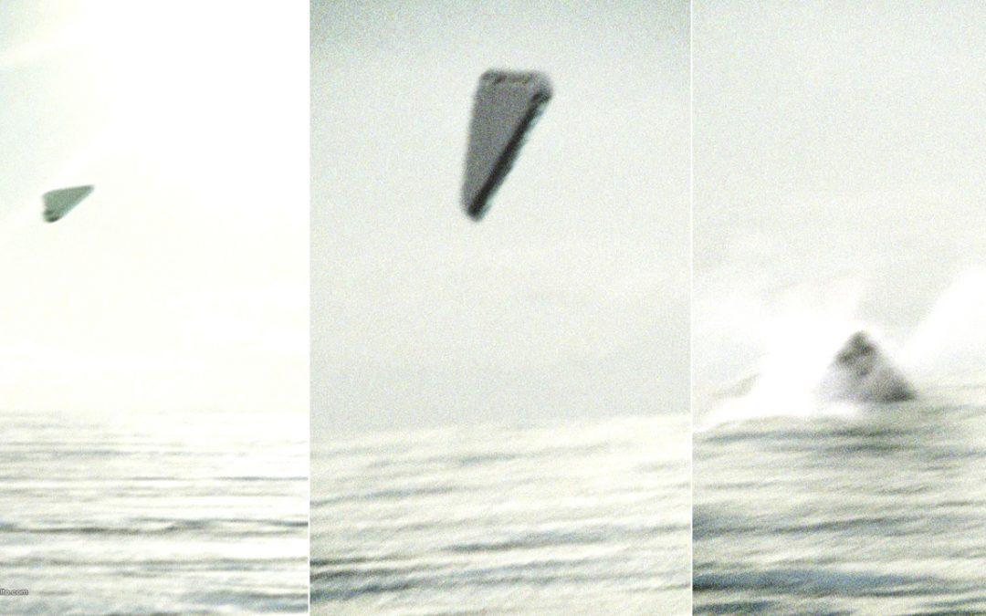 Publican fotografías «filtradas» de No Identificado triangular entrando al océano