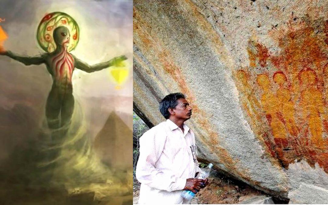 ¿Fue India un punto de acceso de vida avanzada de otros mundos? Pinturas rupestres de 10.000 años lo sugieren