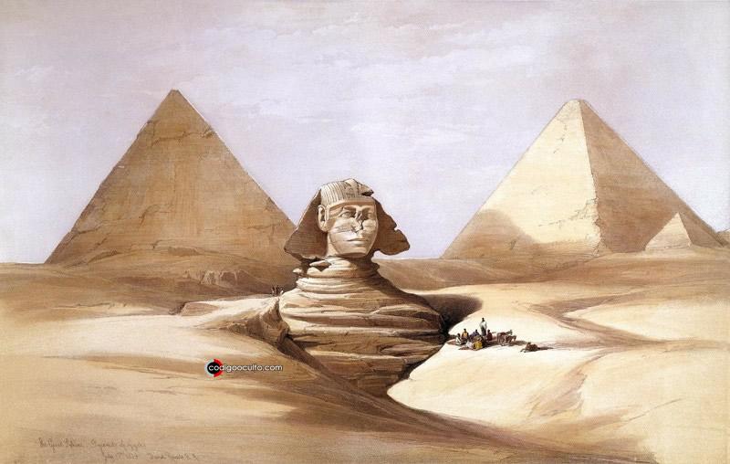 Boceto de la Gran Esfinge de Giza