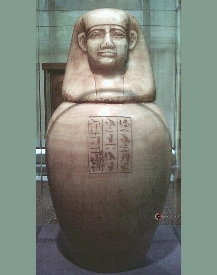Una de las deidades adoradas en Heliópolis, Amset, cuarto hijo de Horus