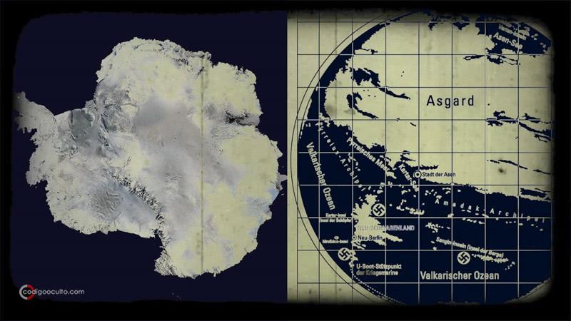 Antártida revelada en antiguos mapas nazis