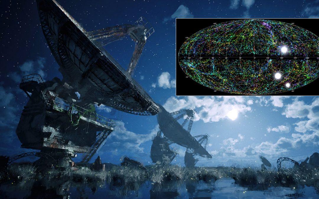 Más de 500 señales desde el espacio son detectadas por un solo telescopio en Canadá