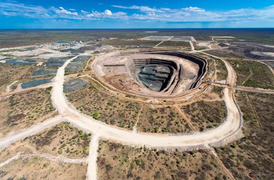 La mina a cielo abierto donde se encontró el diamante. Es el más grande descubierto allí en más de un siglo