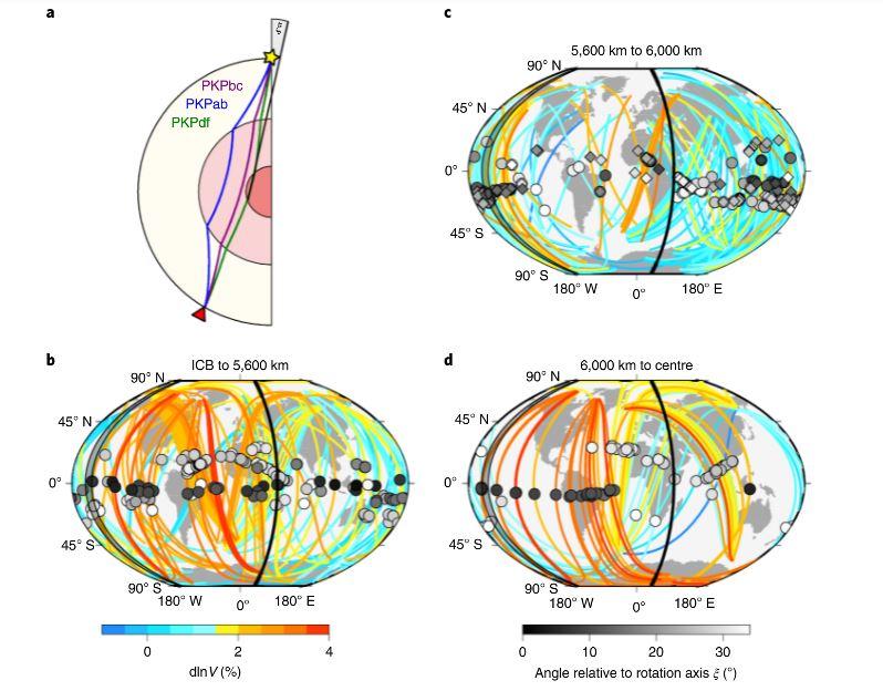 Diversos muestreos del núcleo interno de la Tierra
