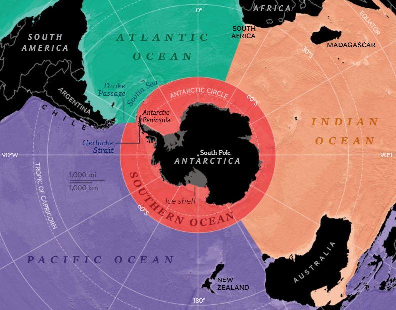 National Geographic ha reconocido oficialmente cinco océanos