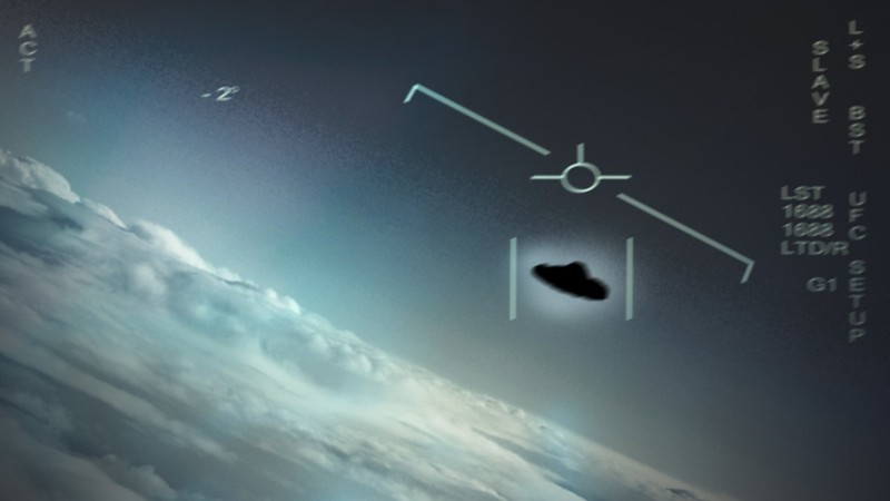 Representación de un OVNI visto por pilotos de la Marina de EE. UU.