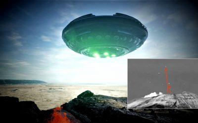 Par de No Identificados captados «saliendo» del volcán Popocatépetl (VIDEO)