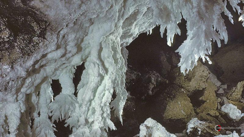 Parte de la cueva Lechuguilla en el parque nacional