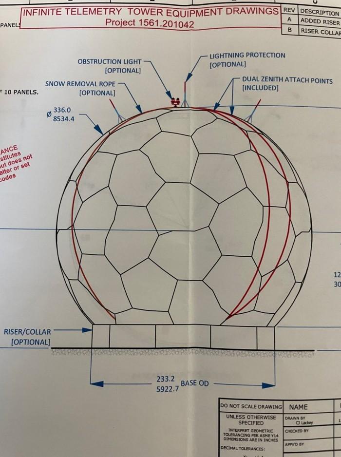 Otro de los supuestos planos para la construcción de una estación de rastreo de OVNIs