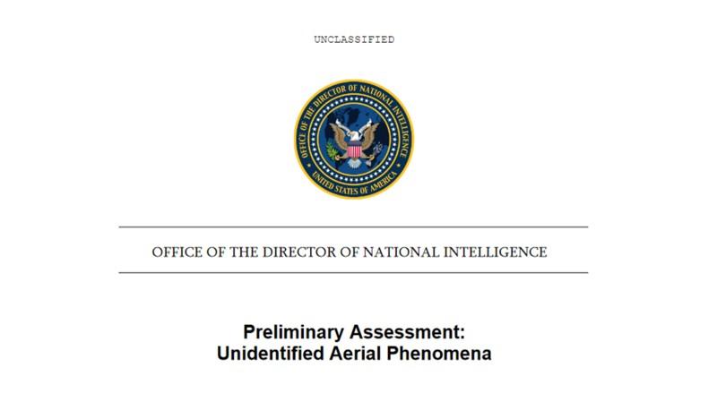 Portada del informe preliminar del UAPTF, entregado al Pentágono