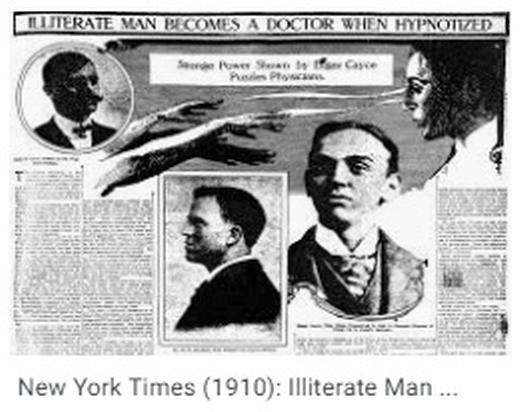 Edgar Cayce asombró a sus contemporáneos por sus dotes psíquicos, que incluso le permitían curar