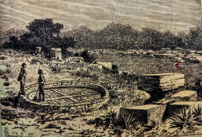 Retrato de ruinas de la ciudad perdida de Kalahari