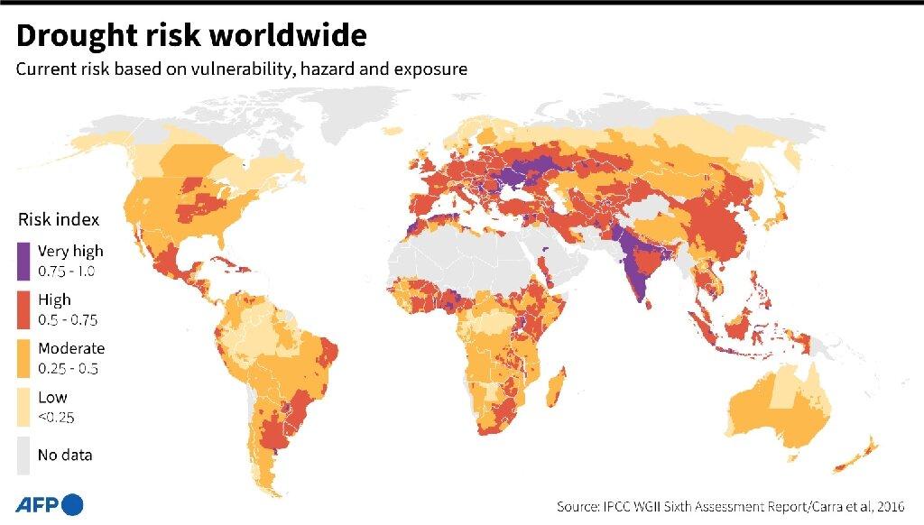Riesgo de sequía en todo el mundo