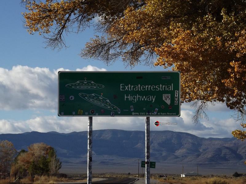 Extraterrestrial Highway, cerca de Área 51