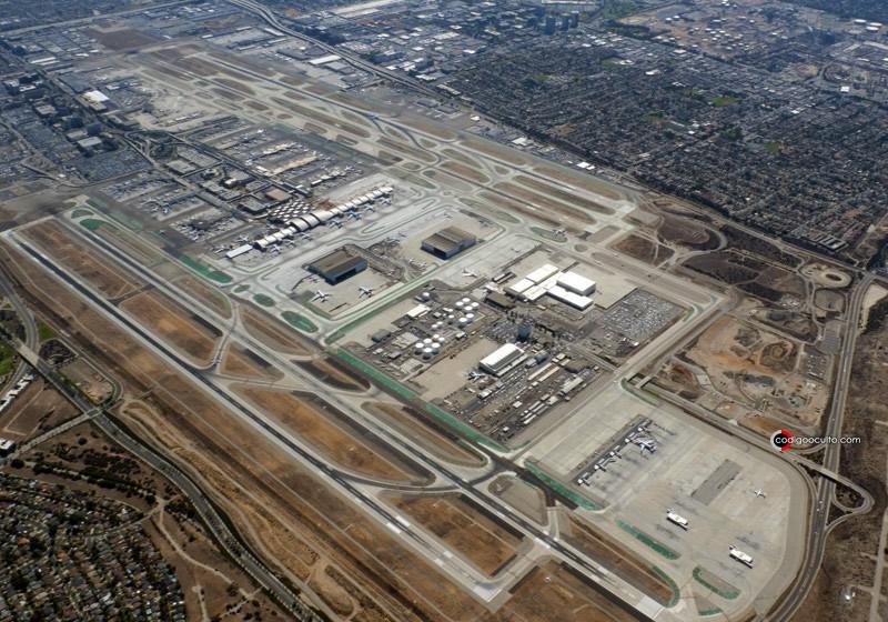 Vista aérea del aeropuerto de Los Angeles