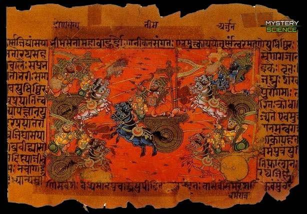 La guerra de Kurukshetra que aparece en el Mahabharata