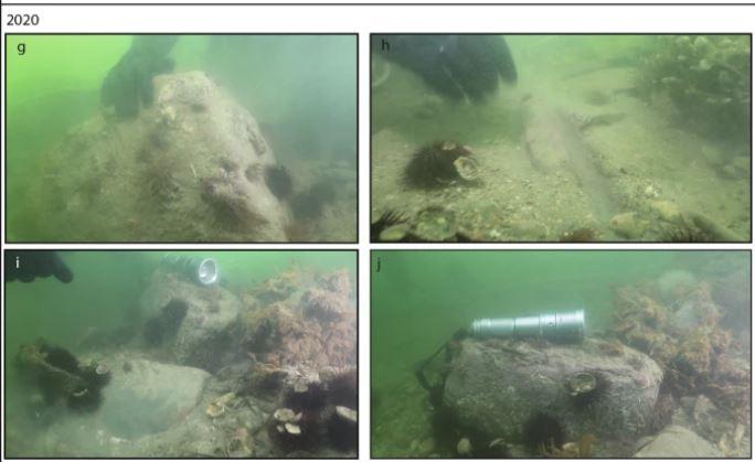 Artefacto hallado en el año 2020 en el canal de Treporti