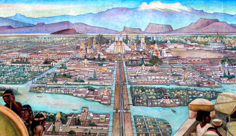 """""""El Mercado de Tlalelolco"""", Diego Rivera"""