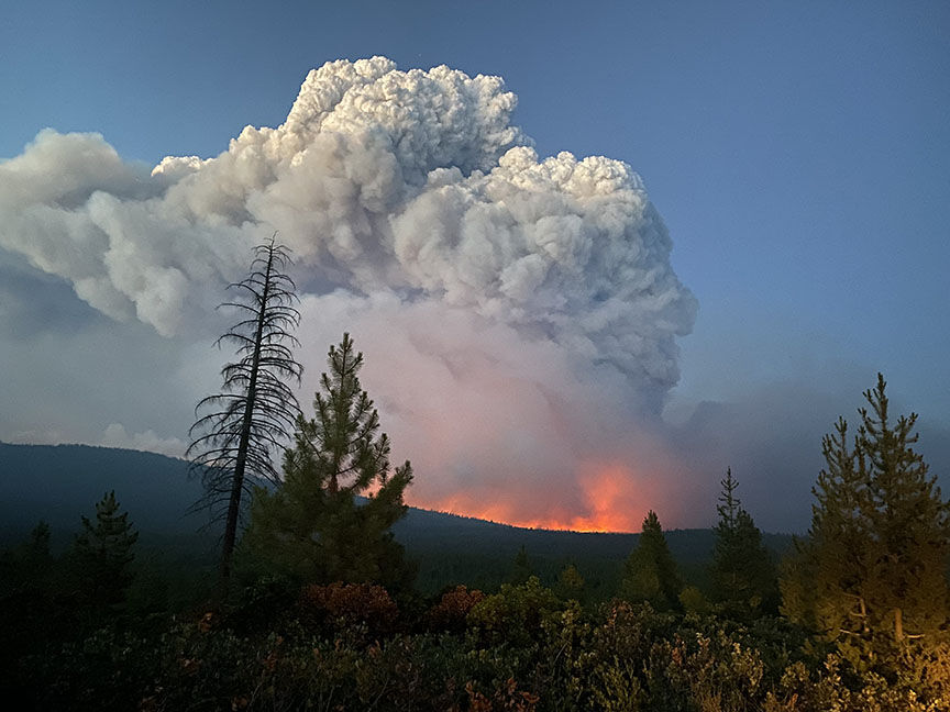 Bootleg Fire en Oregon, EE. UU.