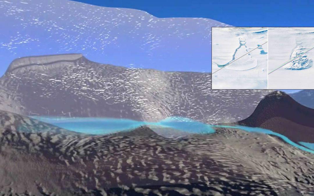 Descubre un sistema oculto de lagos que drenan misteriosamente bajo la Antártida