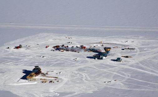 Estación Amundsen-Scott. Estación de Estados Unidos en el Polo Sur.