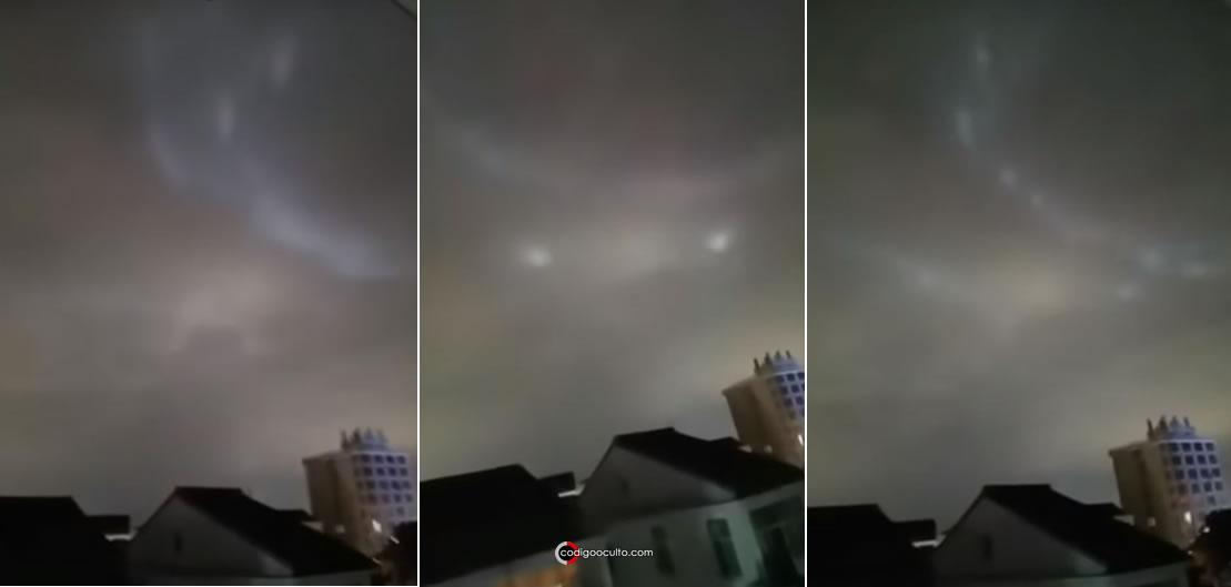 Extrañas luces en el cielo de China