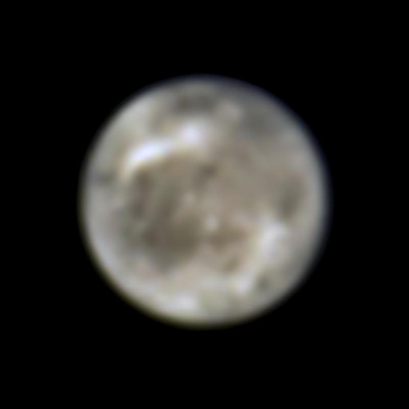 Esta imagen presenta la luna de Júpiter, Ganímedes, vista por el Telescopio Espacial Hubble de la NASA en 1996