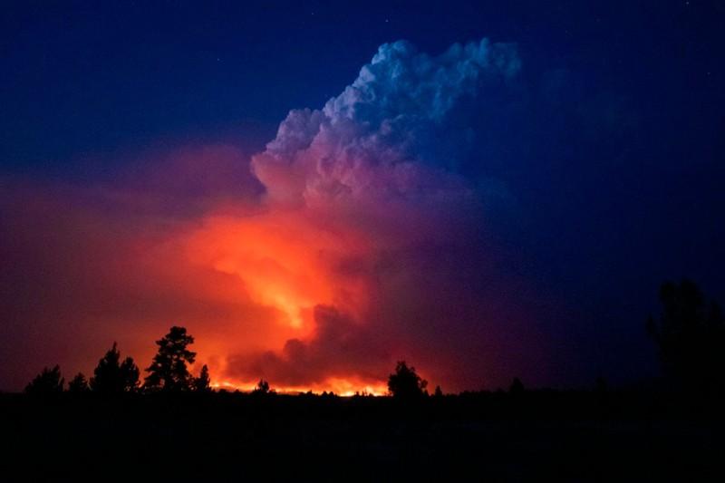 El incendio Bootleg en el sur de Oregón esta semana