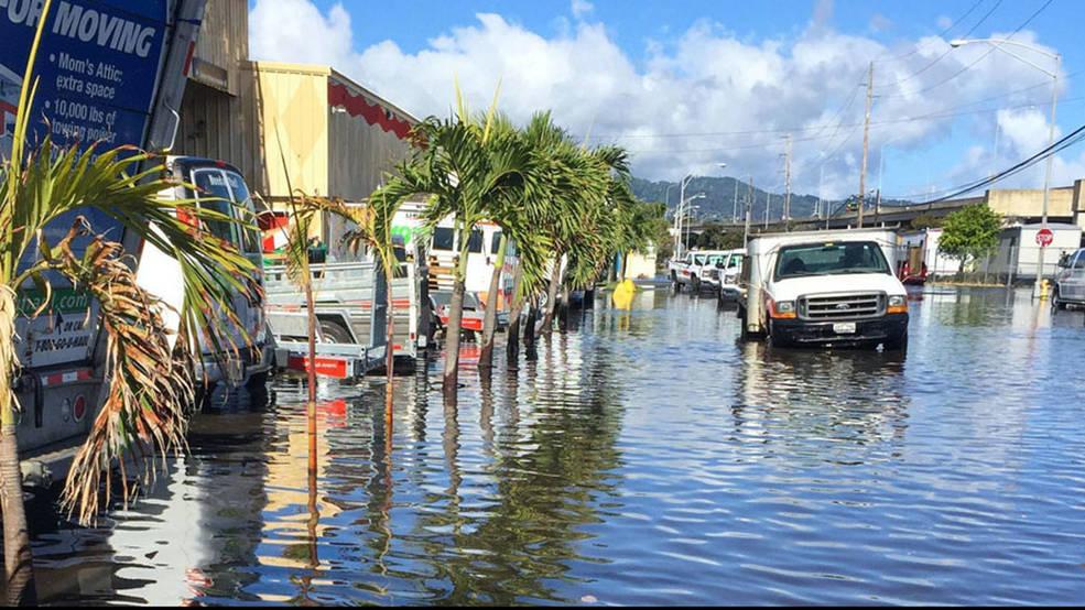 Inundaciones por marea alta en Honolulu