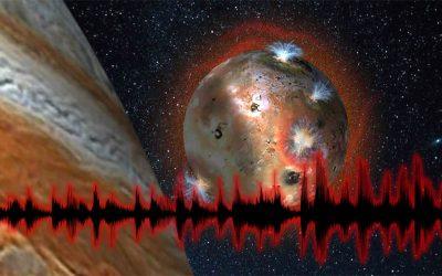 Io, luna volcánica de Júpiter, emite extrañas ondas de radio
