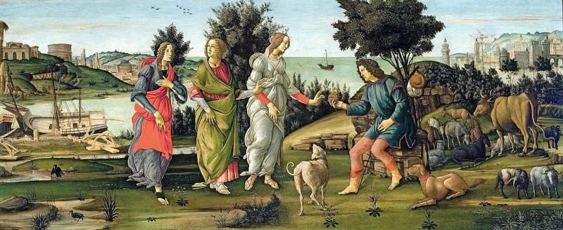 El juicio de Paris de Sandro Botticelli