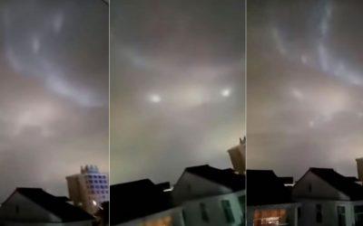 Algo extraño ha ocurrido en el cielo de China: entre orbes y luces (VIDEO)