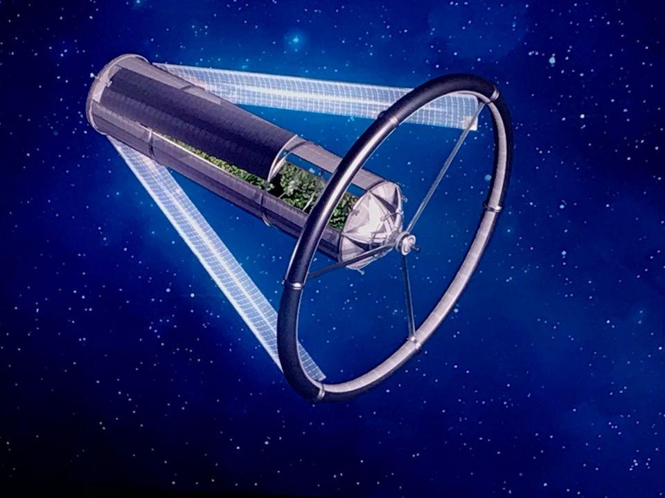 Representación artística de un arca espacial