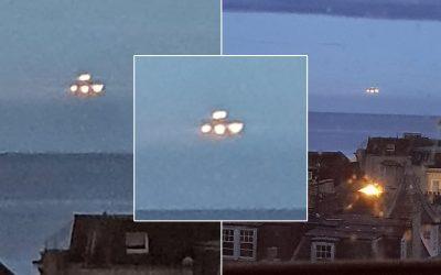 Capturan Objeto No Identificado luminoso flotando sobre el mar en Reino Unido