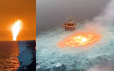 El océano se ha incendiado dos veces este fin de semana