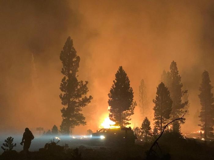 Incendio Bootleg en Oregon, EE. UU.