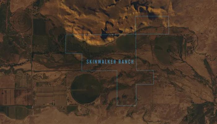 Mapa de la ubicación del Rancho Skinwalker