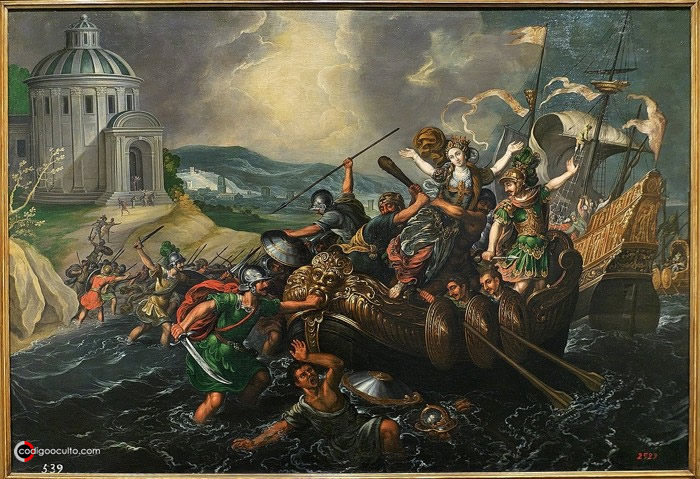 El rapto de Helena, por Juan de la Corte, siglo XVII